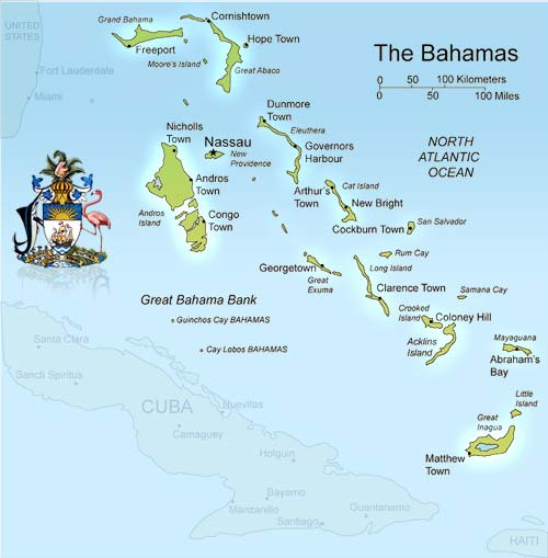Island and city maps the caribbean stadskartor och turistkartor map of the bahamas west indies gumiabroncs Images