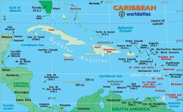 Island And City Maps The Caribbean Stadskartor Och Turistkartor - Cayman islands map caribbean
