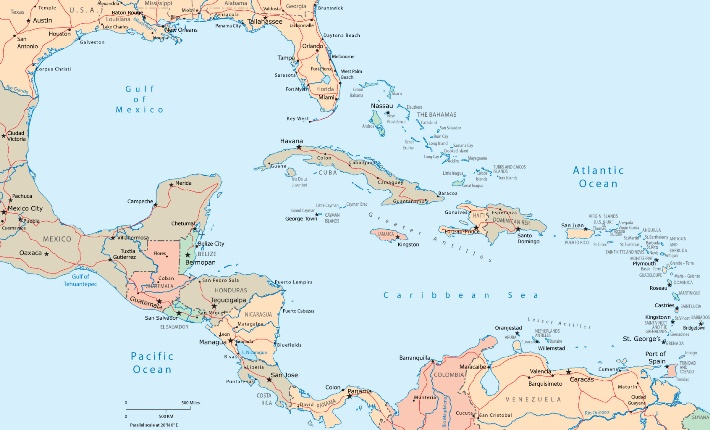 Caribbean Map. Click on this map to view a larger map of the Caribbean