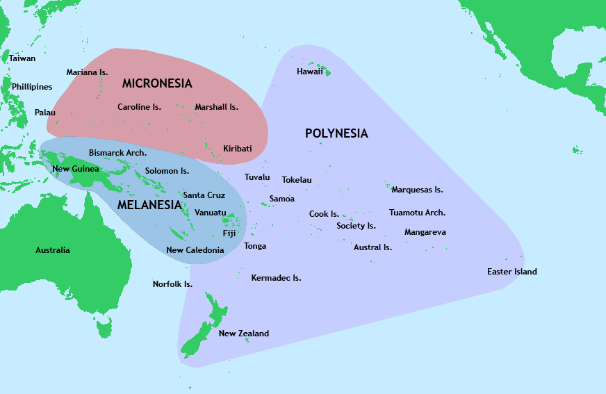 Kartor Oceanien Och Stilla Havet Maps Oceania And Pacific Ocean - Tokelau map