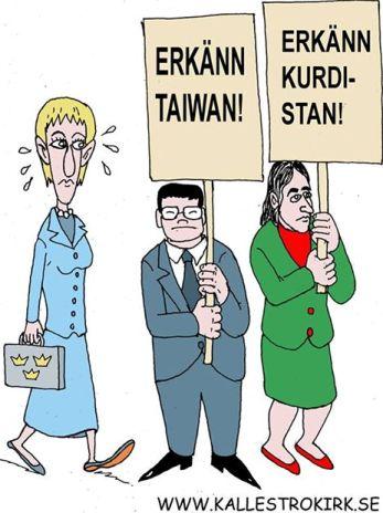 Margot Wallström erkänner Palestina.. Taiwan, Kurdistan m.fl?