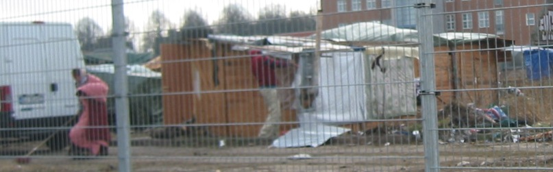 EU-migranternas kåkstad vid Industrigatan i Malmö
