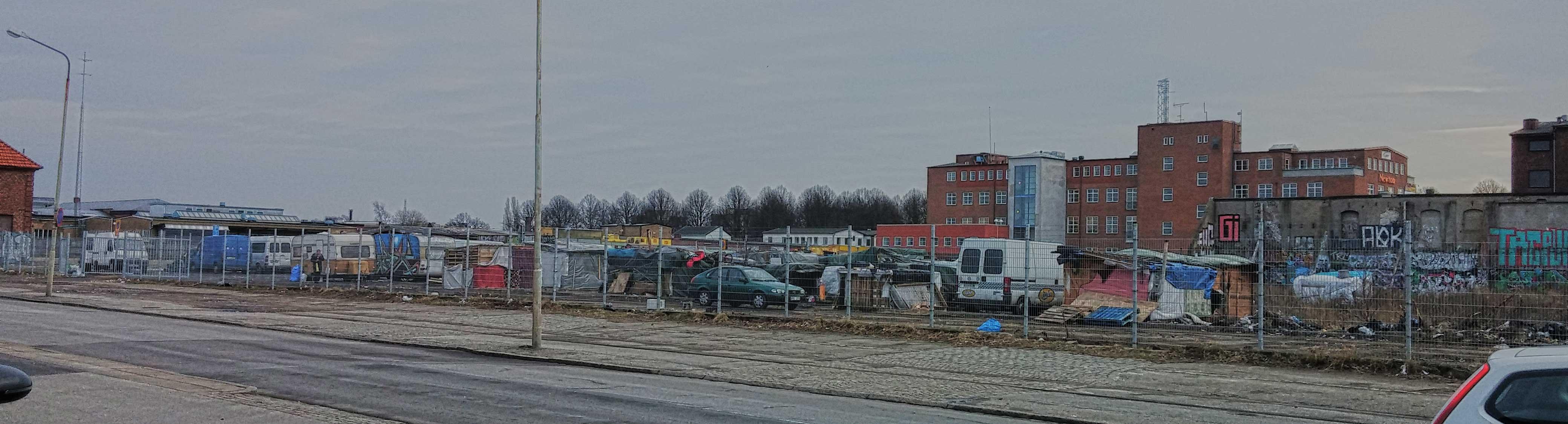 EU-migranternas läger vid Industrigatan-Nobelvägen i Malmö