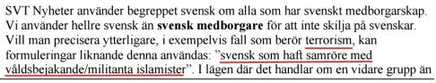 Svensk enligt SVT