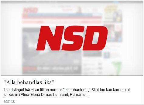 Klicka här för att gå till artikeln i NSD, 2015-03-30