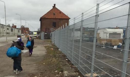 EU-migranter, läger Malmö Industrigatan-Nobelvägen