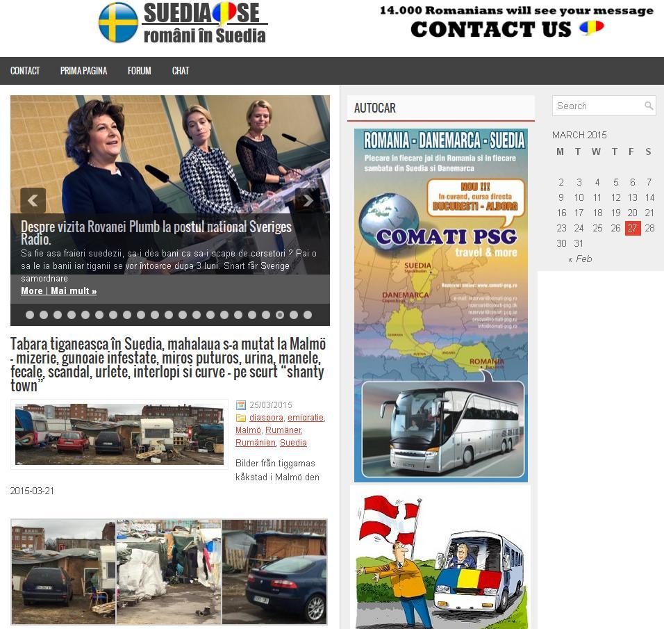 Om bloggen Politik & Partier i Rumänien, ed information om romernas kåkstad i Malmö