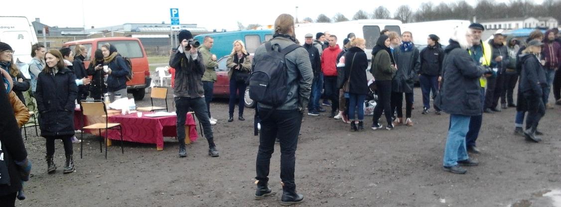 EU-migranters läger i Malmö, vid industrigatan, 2015-04-27