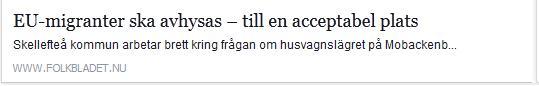 Klicka här för att gå till artikeln i Folkbladet, 2015-04-23