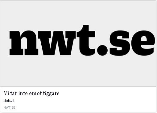 Klicka här för att gå till artikeln i NWT, 2015-04-22