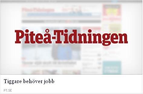 Klicka här för att gå till artikeln i Piteå-tidningen, 2015-06-03