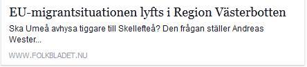 Klicka här för att gå till artikeln i Folkbladet, 2015-06-04
