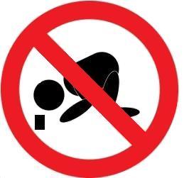 Skylt förbjudet att tigga