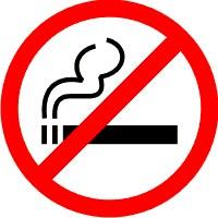 Rökning förbjuden skylt