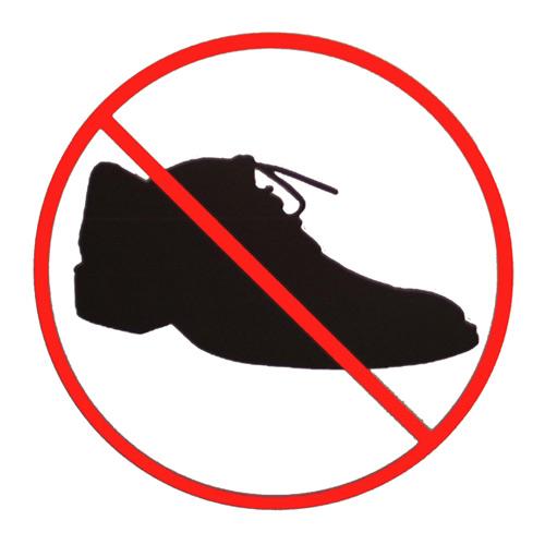 Skor förbjudet skylt