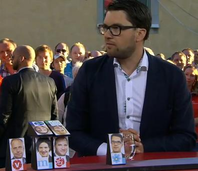 Höger-vänsterskalan på partiledarna enligt Jimmie Åkesson