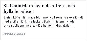 Klicka här för att gå till artikeln i Aftonbladet, 2015-10-22