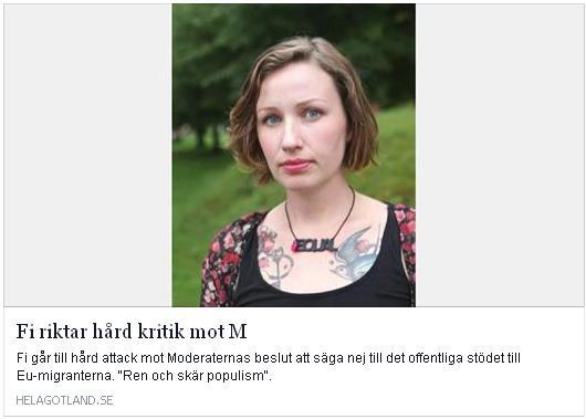 Elin Bååth - Klicka här för att gå till artikeln i Hela Gotland, 2015-11-25