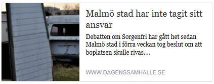 Klicka här för att gå till artikeln i Dagens Samhälle, 2015-11-06