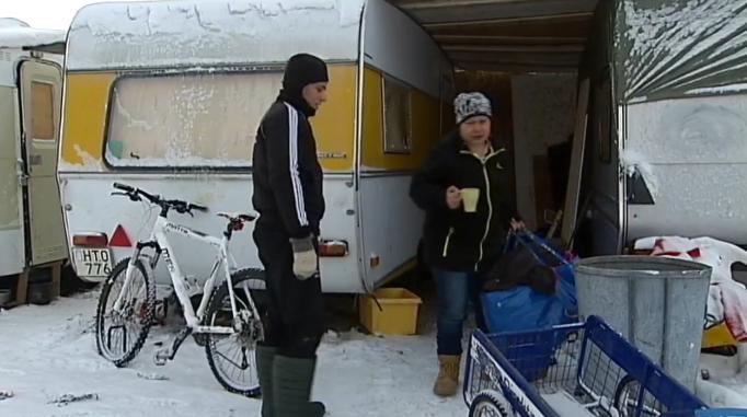 EU-migranter Sundsvall, husvagnar svenska
