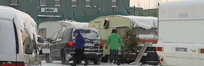EU-migranter i Sundsvall, svenska husvagnar