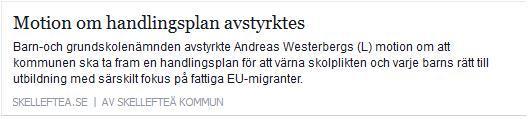 Klicka här för att gå till artikeln i Skelleftea.se, 2016-02-11