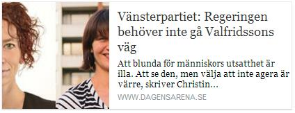 Klicka här för att gå till artikeln i Dagens Arena, 2016-02-09