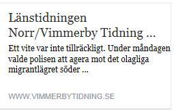 Klicka här för att gå till artikeln i Vimmerby tidning, 2016-02-23