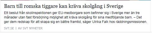 Klicka här för att gå till artikeln i SVT, 2016-03-28
