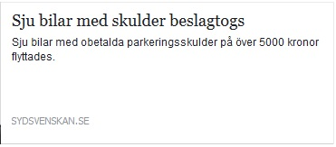 500 kronor i boter for felparkerad hast