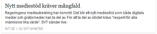 Klicka här för att gå till artikeln i SVT, 2016-10-07