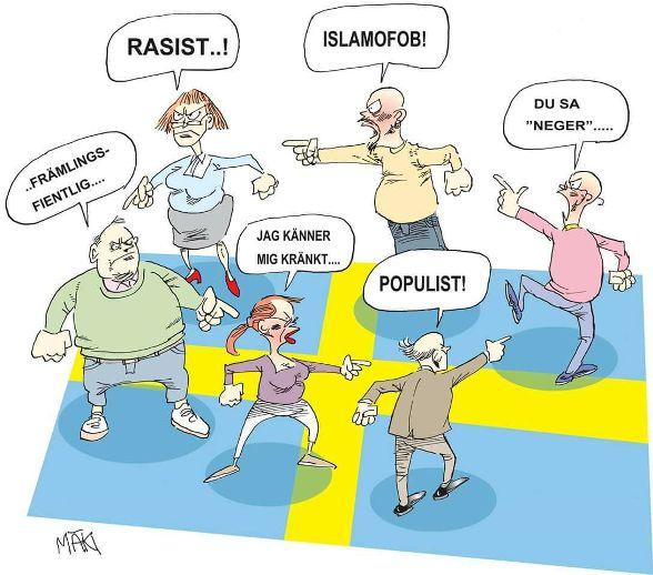 rasist, främlingsfientlig, populist, kränkt, islamofob