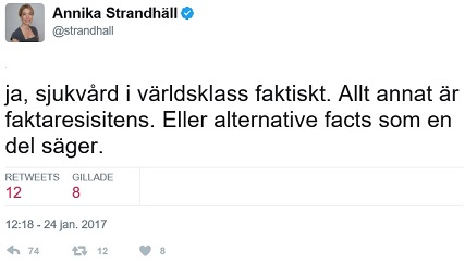 Annika Strandhäll ser inga problem med svensk sjukvård