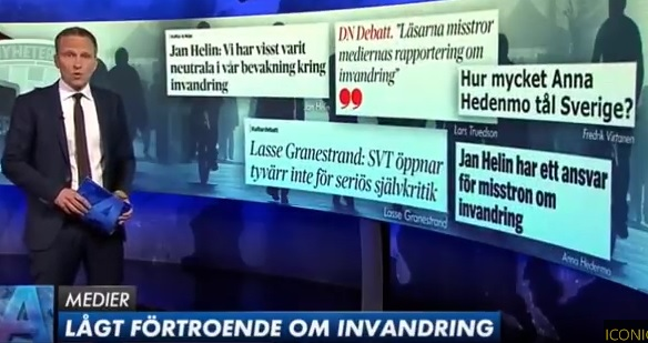 Lågt förtroende för media i frågor om migration