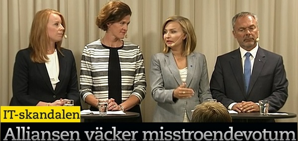 IT-skandalen. Ebba Busch Thor (KD). Presskonferens