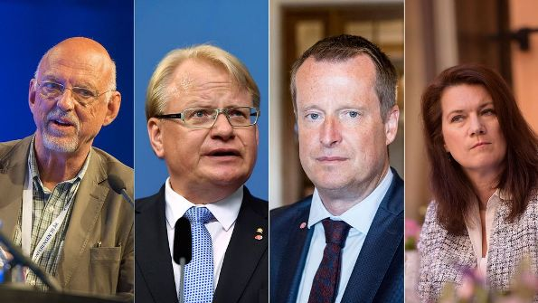 Hans Dahlgren, Peter Hultqvist, Anders Ygeman, Ann Linde (Emma Lennartsson utanför bild)