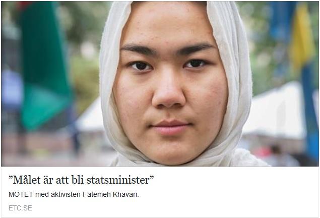 Fatemeh Khavari fikar efter statsministerposten