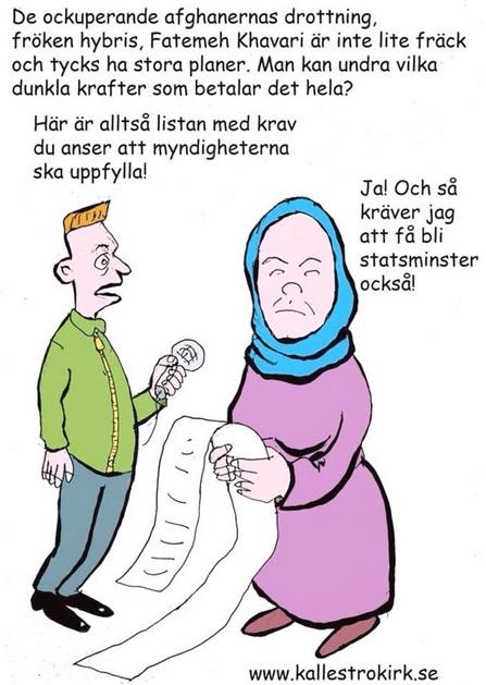 Fatemeh Khavari har otaliga och orimliga krav på försörjning av Sverige