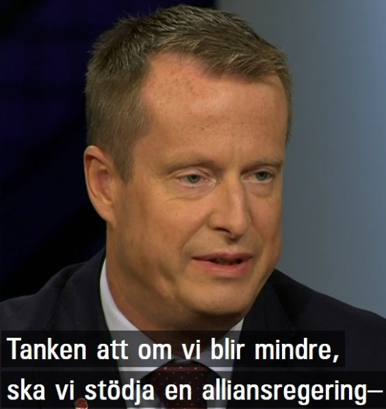 Anders Ygeman, Socialdemokraterna kommer inte stödja en alliansregering