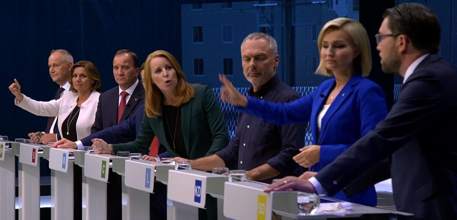 Annie Lööf och Jimmie Åkesson, debatt:: Hur uttrycker du dig?