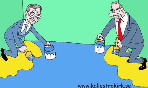 Blockpolitik, partiledarna har målat in sig i sina hörn