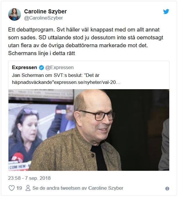 Jan Scherman och Caroline Szyber kritiserar SVT