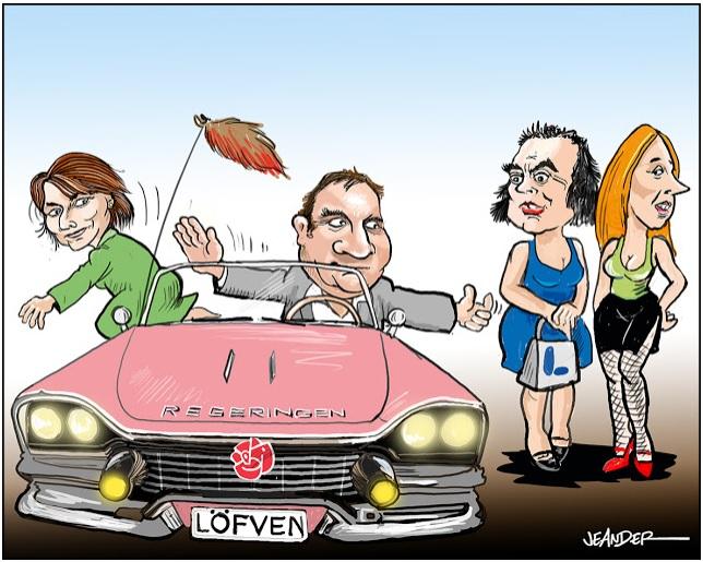 Stefan Löfven vill byta ut MP mot C och L