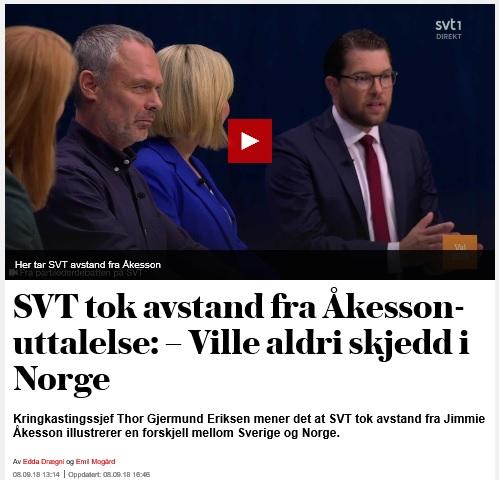 NRK skulle aldrig ta avstånd från en partiledares uttalande
