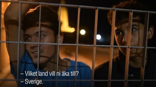 Afghaner vill till Sverige från Lesbos