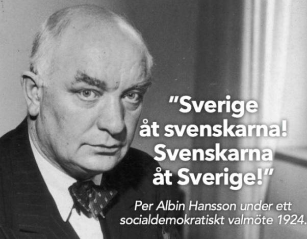 Per Albin Hansson, Sverige åt svenskarna