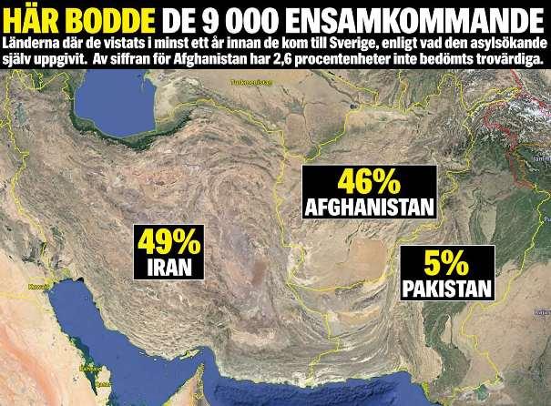 Var kommer de afghaner från som söker asyl i Sverige?