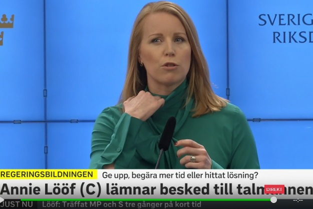 Annie Lööf, Centerpartiet