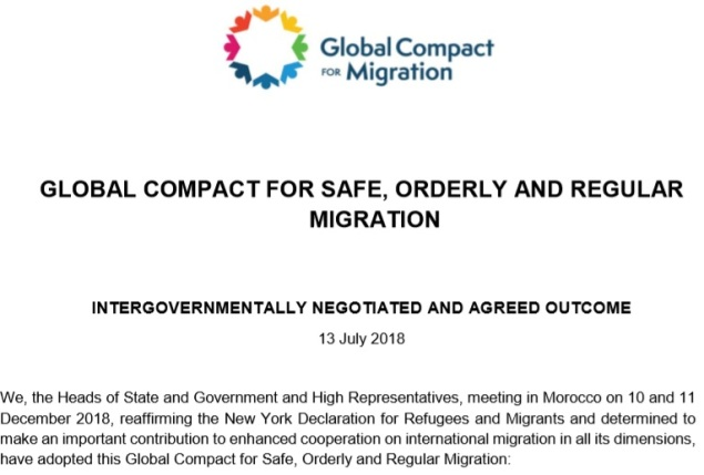 GLOBAL COMPACT FOR SAFE, ORDERLY AND REGULAR MIGRATION