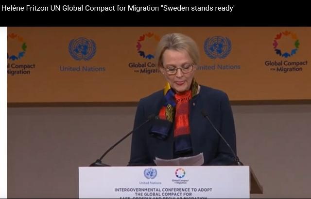 Helene Fritzon, migrationsminister, Socialdemokraterna, FN:s migrationsavtal